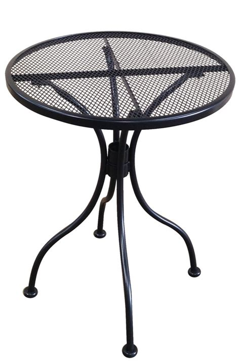 outdoor wrought iron table with 24 top mt24r hnd