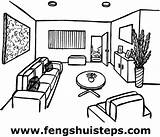 Living Coloring Drawing Lounge Colouring Sketch Template sketch template