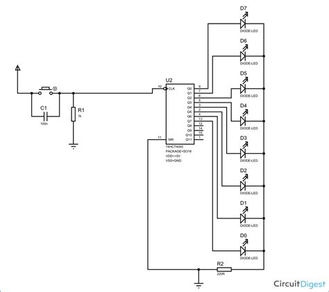 Binary Counter Circuit Diagram Using Hct
