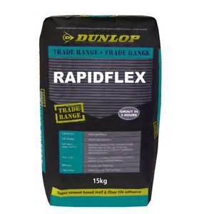 dunlop 15kg rapidflex tile adhesive bunnings warehouse