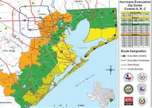 Texas Hurricane Evacuation Map