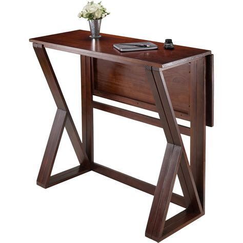 high top drop leaf table drop leaf tables walmart com harrington high table walnut