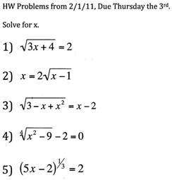 College Math Problems