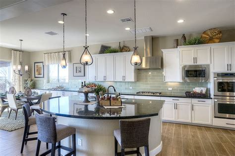 gehan homes kitchen large kitchen island white cabinets