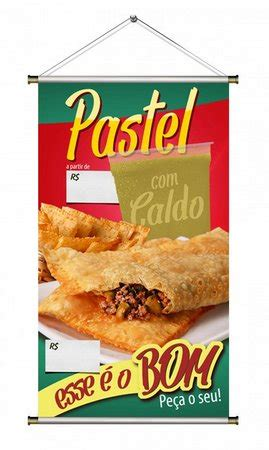 frases para vender hot dogs banner de combo pastel caldo de cana 70x120cm