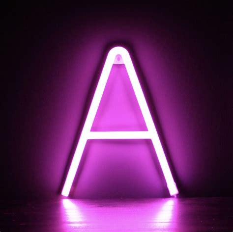 Neon Letter A – Pink – Smiling Faces Retail