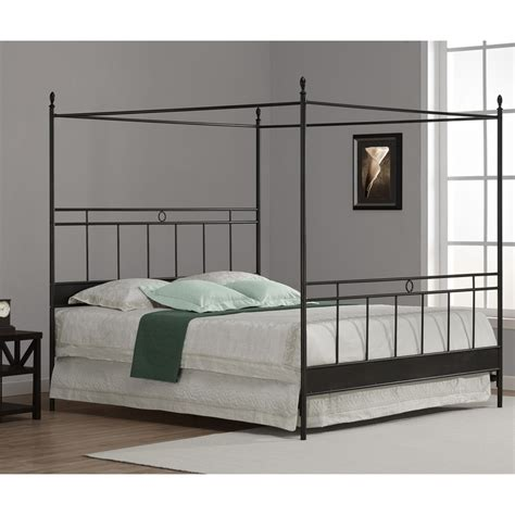 overstock king bed cara king metal canopy bed