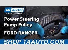 How to Install Replace Power Steering Pump Pulley 40L