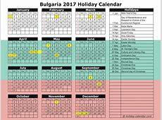 Bulgaria 2018 calendar with holidays list 2018 Calendar