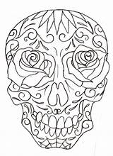 Skull Sugar Coloring Pages Drawings Girly Tattoo Drawing Skulls Printable Tattoos Metacharis Designs Deviantart Candy Dead Sketches Line Adult Flash sketch template