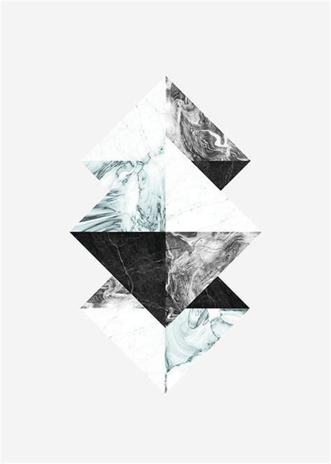 graphic poster mit dreiecken und marmor sch 246 ne poster