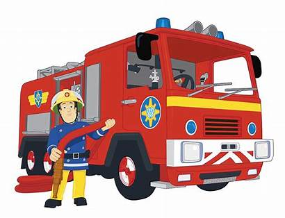 Fireman Sam Cartoon Fire Jupiter Engine Dan
