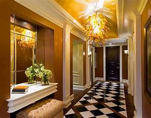 peinture couloir decoration entree accueil design et With photo jardin moderne design 13 deco couloir amenagement en 30 photos
