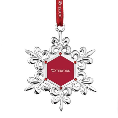 waterford silver snowflake picture frame ornament