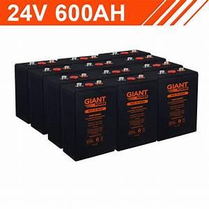 14 4kwh 24v 600ah Carbon Lead Battery Bank  2v Cells