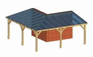 Terrassenüberdachung über Eck : terrassen berdachung aus holz mit vsg glas dacheindeckung ~ Whattoseeinmadrid.com Haus und Dekorationen