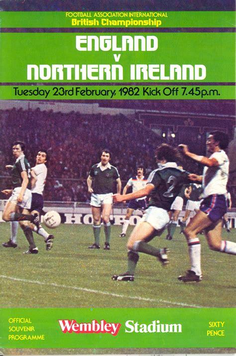England vs Northern Ireland 1982, Match Programme ...