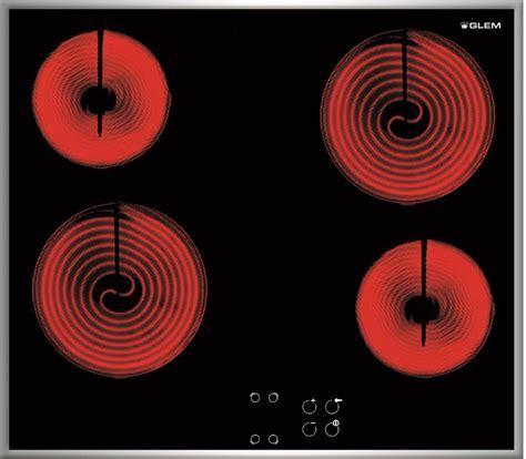 piano cottura elettrico incasso piano cottura glem gas vetroceramica 60 cm gth64tcix