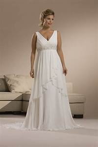 plus size summer chiffon wedding dress with sweep train With chiffon plus size wedding dress