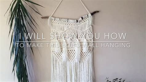 macrame hangings diy step  step tutorial youtube