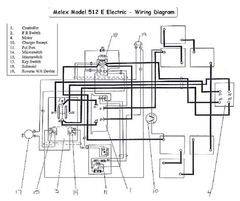 cartaholics golf cart forum melex  wiring diagram