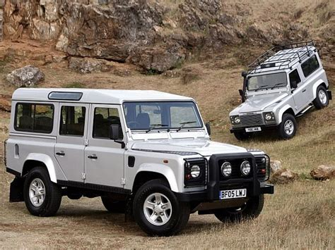old white land classic cars landrover defender