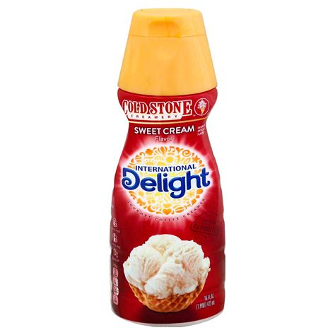 There are 35 calories in 1 tbsp (15 ml) of international delight cold stone creamery sweet cream coffee creamer. International Delight Cold Stone Creamery Sweet Cream Liquid Coffee Creamer - Shop Coffee ...