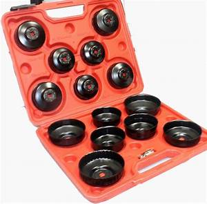 15pc Oil Filter Cap Wrench Socket Removal Install Set 65