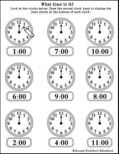 learning time preschool learning time worksheets preschool homeshealth info 967