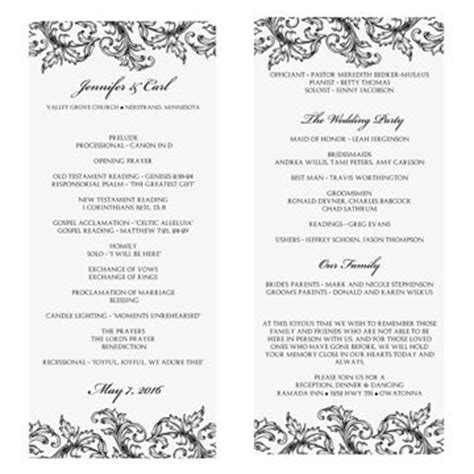27 images of wedding ceremony outline template leseriail com