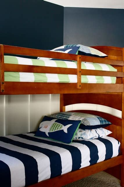 nautical bunk beds navy white bunk beds and nautical little man pinterest