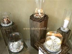 Deko Ideen Kerzen Im Glas : holz deko s ulen glas holz deko pinterest deko ~ Bigdaddyawards.com Haus und Dekorationen