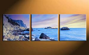 3 Piece Blue Ocean Canvas Art Prints