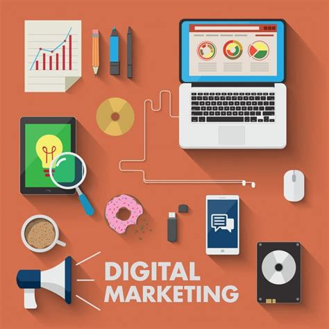digital marketing free different devices for digital marketing vector free