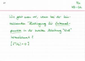 Hochpunkt Berechnen : kurvendiskussion grundlagen ~ Themetempest.com Abrechnung