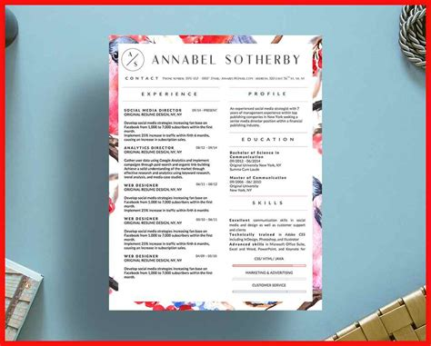 creative resume templates free download for microsoft pretty templates for word apa exle