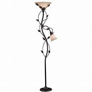 kenroy home ashlen 72 in oil rubbed bronze mother and son With torchiere floor lamp leaves