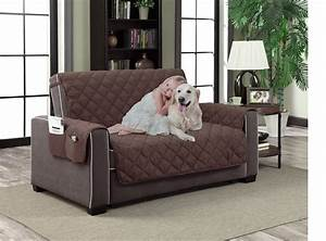 Slipcover microfiber reversible pet dog couch protector for Two dogs furniture covers