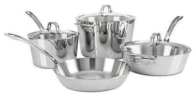 viking contemporary  ply stainless steel  piece cookware set  ebay