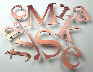 brushed copper letters metal letters With copper metal letters