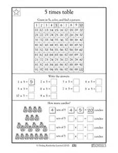 3rd grade math worksheets 5 times tables greatschools - Learning 7 Times Tables