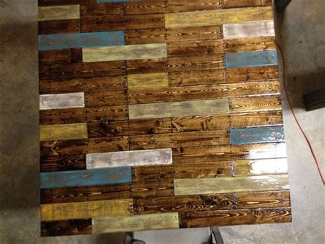 diy pallet table  colorful top pallet furniture plans