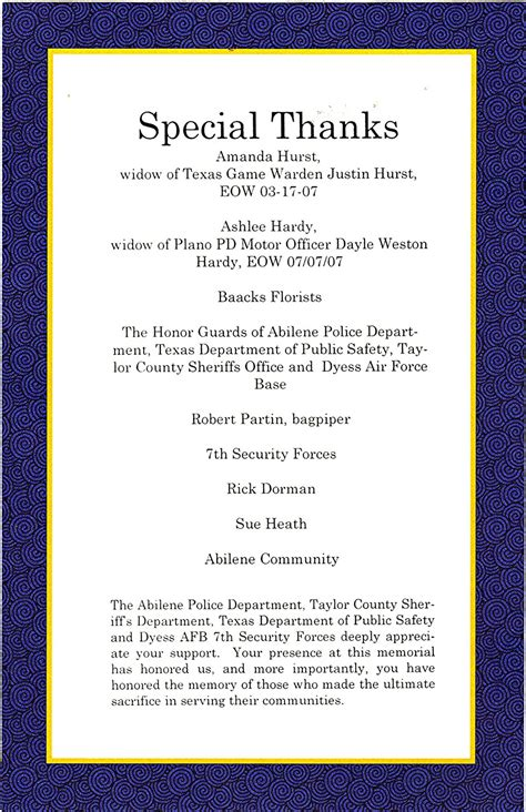 law enforcement officers memorial month