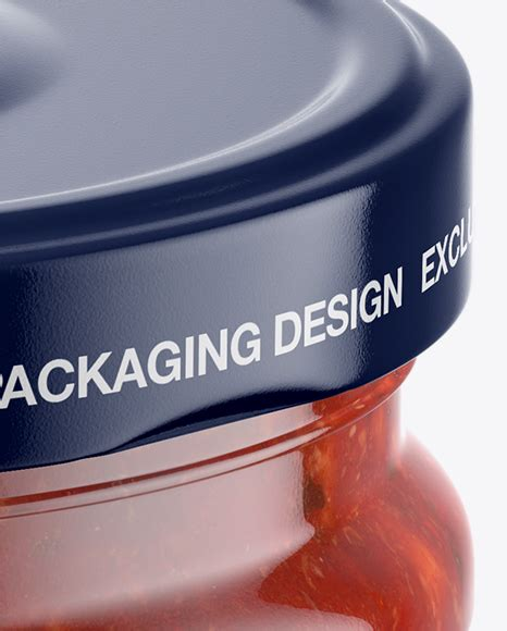 Clear round sauce containers mockup 2221803. Bbq Sauce Jar Mockup High Angle Shot - The item is ...