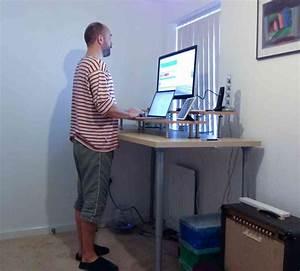 Ikea Standing Desk Hack Decor Ideasdecor Idea Affordable Diy Adjustable Standing Desk