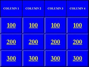 blank jeopardy template blank jeopardy template With jeopardy template powerpoint 2007