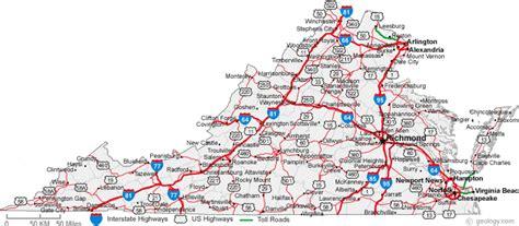 map  virginia cities virginia road map