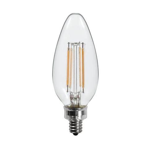 40 watt equal led filament candelabra light bulb b11