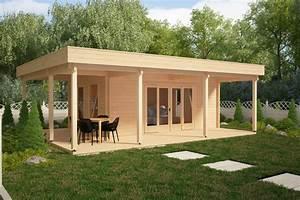 Gartenhaus Mit Terrasse : gartenhaus mit gro er terrasse remo 1 22m2 58mm 6 x 8m hansagarten24 ~ Whattoseeinmadrid.com Haus und Dekorationen