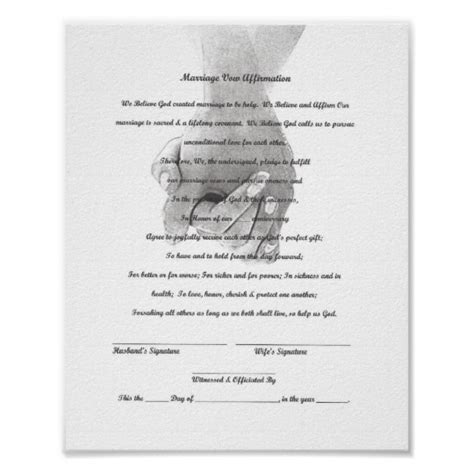 Vow Renewal Certificate Template by Certificate Marriage Vow Renewal Template Poster Zazzle